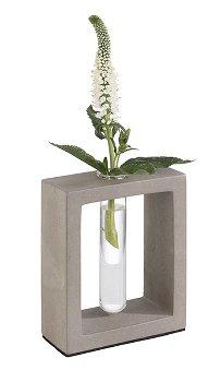 Vase mit Glaseinsatz -ELEMENT-