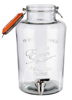 Glas zu Getränkespender