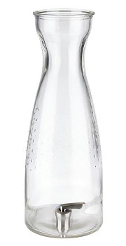 Glas inklusive Zapfhahn