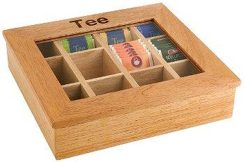 Teebox mit 12 Kammern