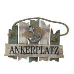 Holz-Schild mit Anker