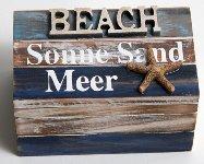 Holz-Tuhe Sonne, Sand, Meer
