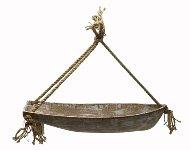 Holz Schale Boot mit Tau