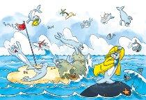 Tischset Seehunde im Sturm
