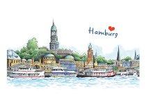 Tischset Hamburger Hafen